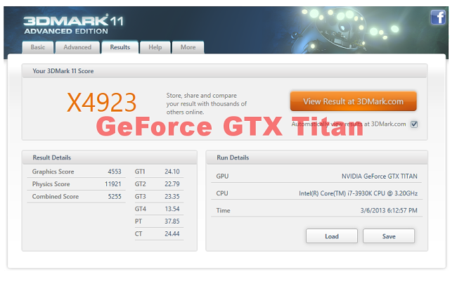 GeForce GTX TITAN 3Dmark11