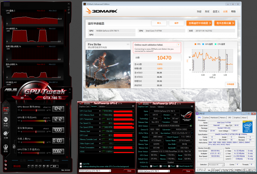NVIDIA GeForce GTX 780 TI 3DMark Fire Strike OC