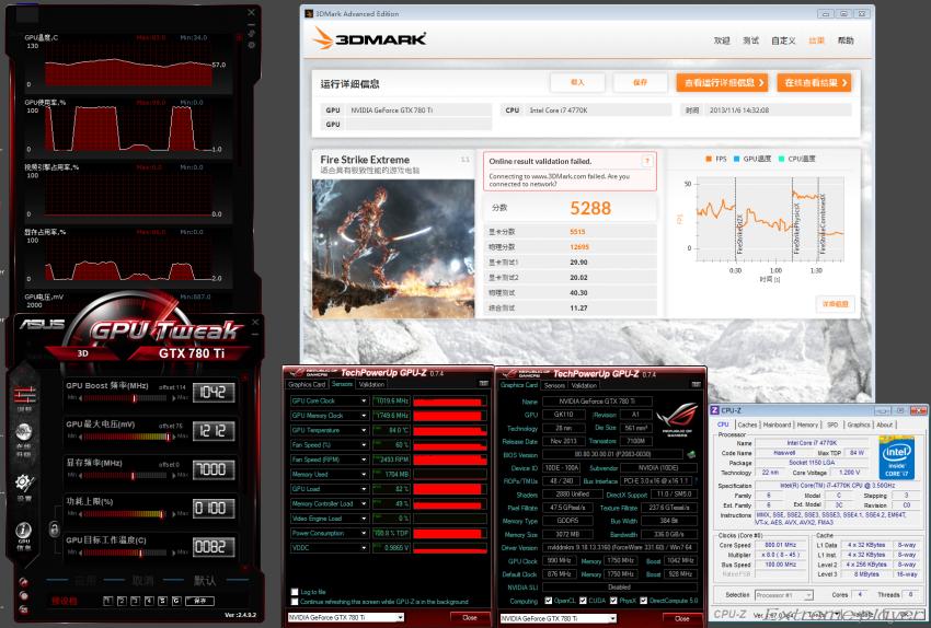 NVIDIA GeForce GTX 780 TI 3DMark Fire Strike OC Extreme