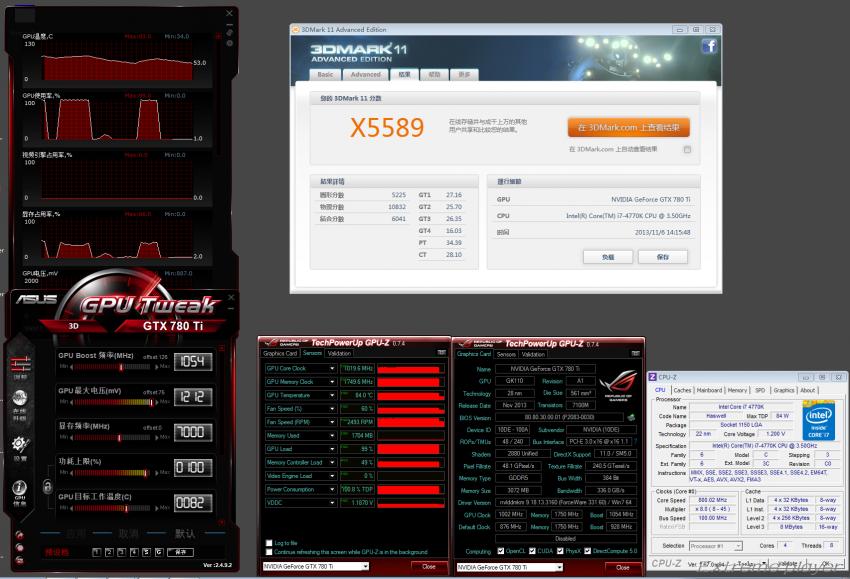 NVIDIA GeForce GTX 780 TI 3DMark11 Extreme OC