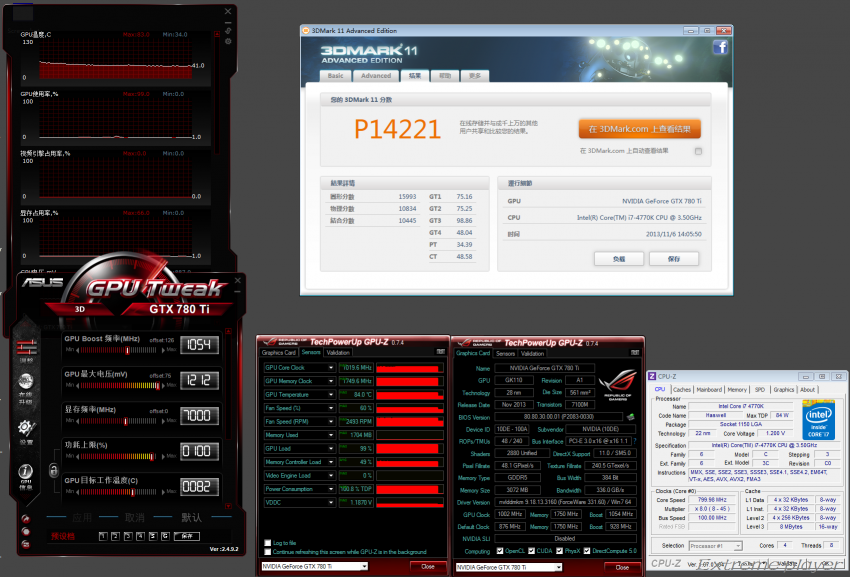 NVIDIA GeForce GTX 780 TI 3DMark11 Performance OC
