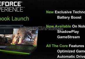 NVIDIA GeForce Experience GTX 800M