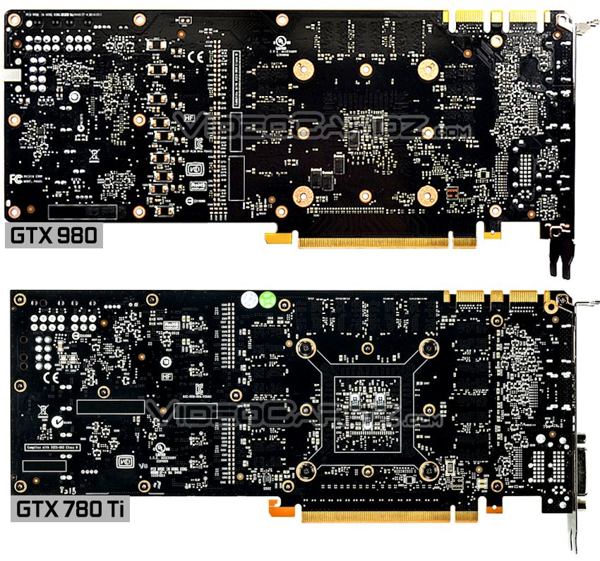NVIDIA GeForce GTX 980 PCB Back Picture