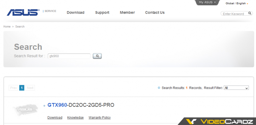 ASUS GTX960-DC2OC-2GD5-PRO 2GB
