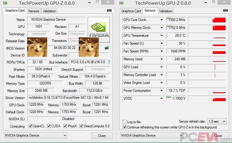 GeForce GTX 960 GPUZ