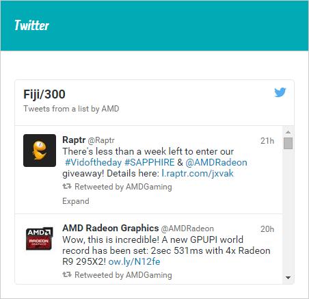 AMD FIJI 300 Twitter