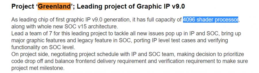 AMD Vega 10 Greenland 4096 Cores
