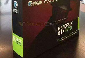 GALAX GTX 1070 packaging