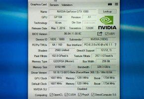 NVIDIA GTX 1080 GPUZ