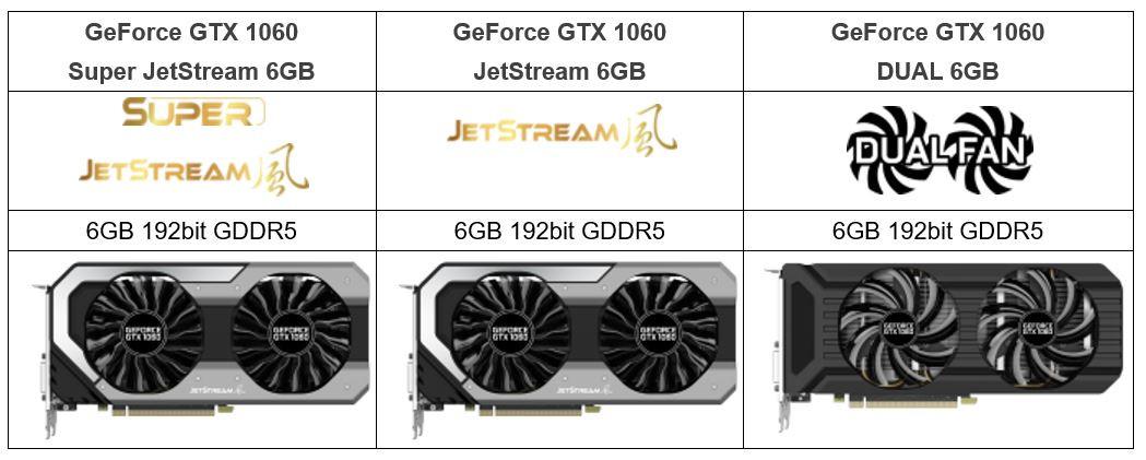 Palit announces geforce gtx 1060 jetstream series videocardz com