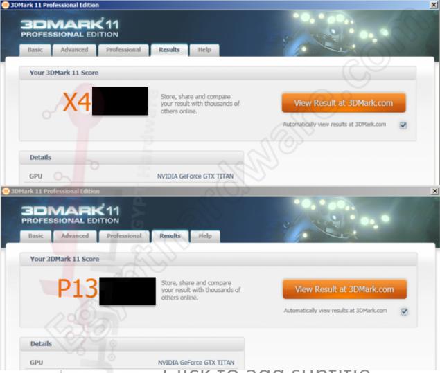 GeForce GTX Titan 3Dmark Scores