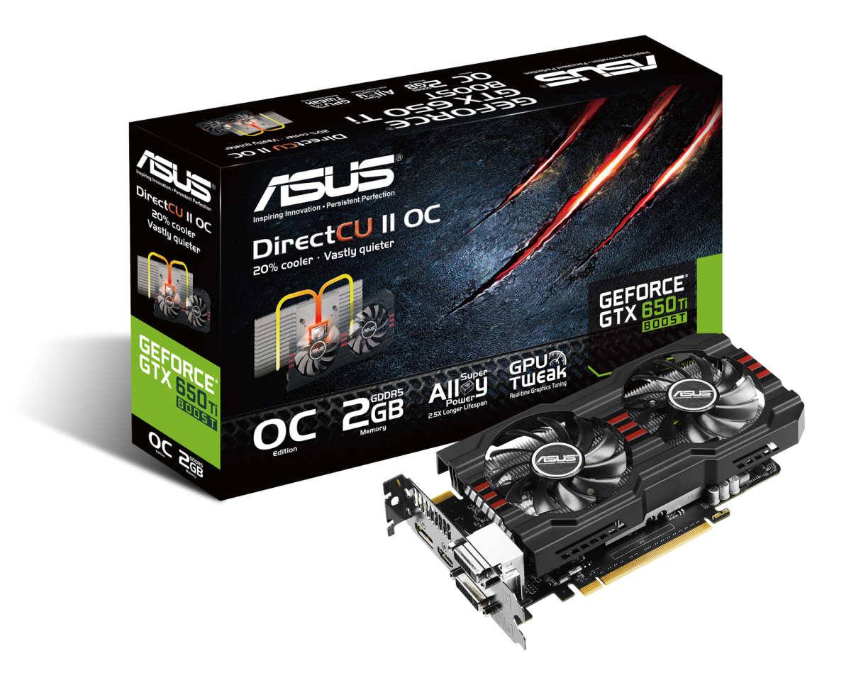 PR ASUS GeForce GTX 650 Ti BOOST DirectCU II OC Edition with box