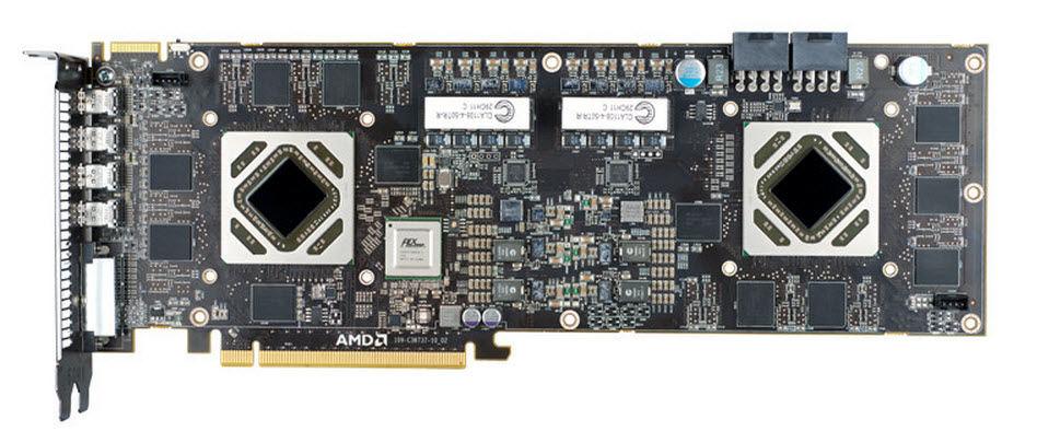 AMD Radeon HD 7990 PCB