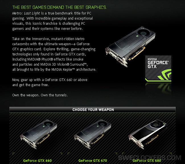 GTX 600 Series Metro Bundle