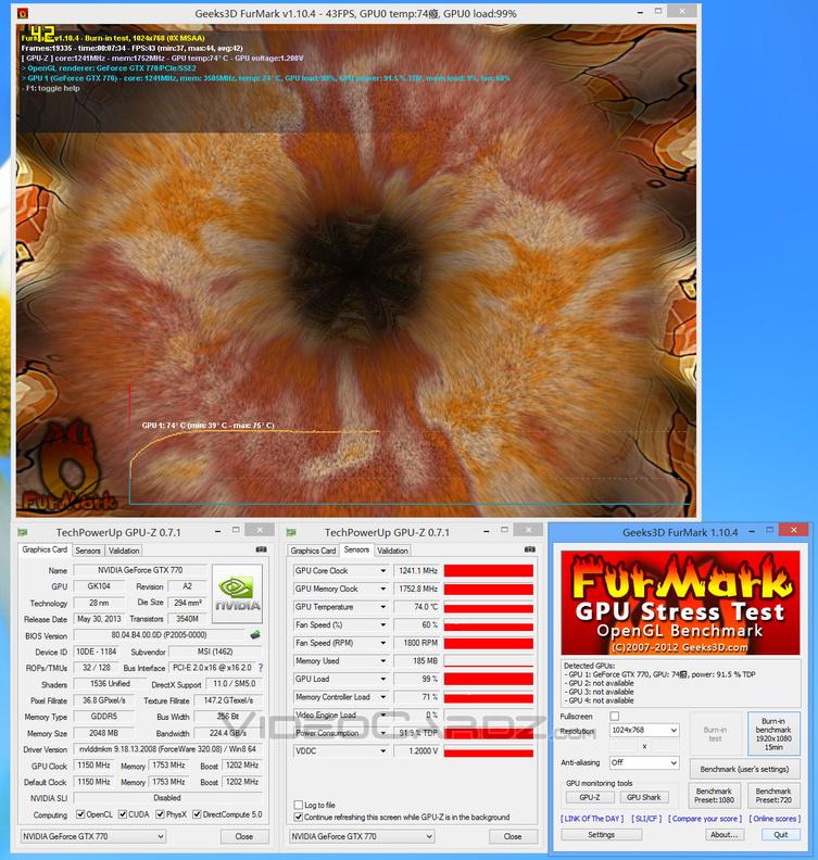 MSI GeForce GTX 770 Lightning Overclocking