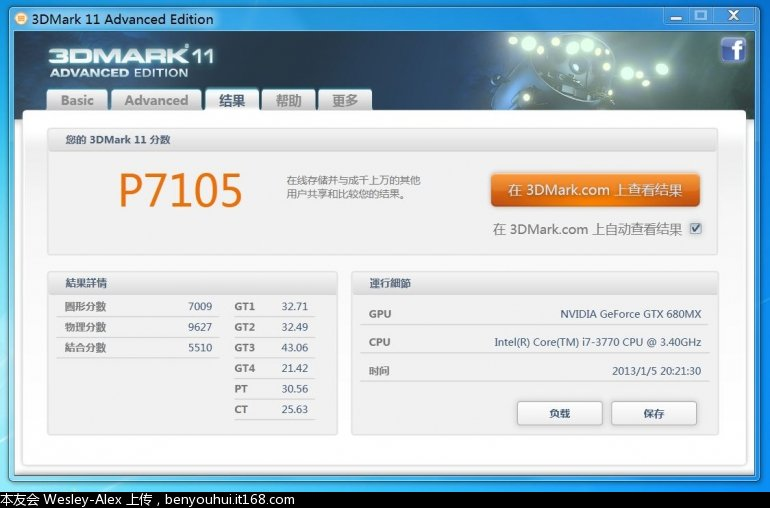 NVIDIA GeForce GTX 680MX 3DMark