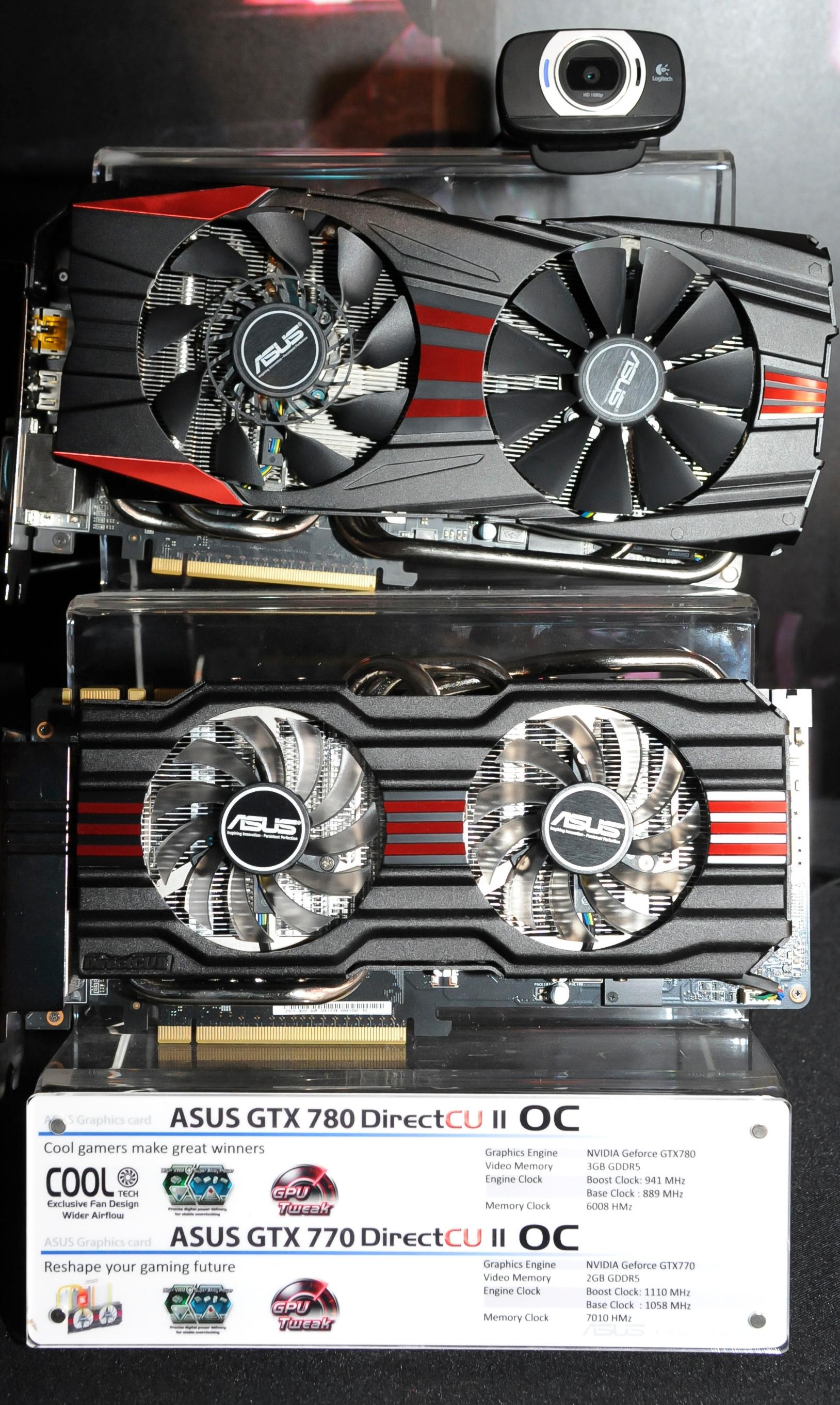 ASUS GTX 780 and GTX 770 DirectCU II
