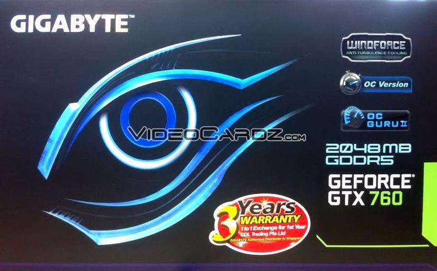 Gigabyte GTX 760 OC (GV-N760OC-2GD5)