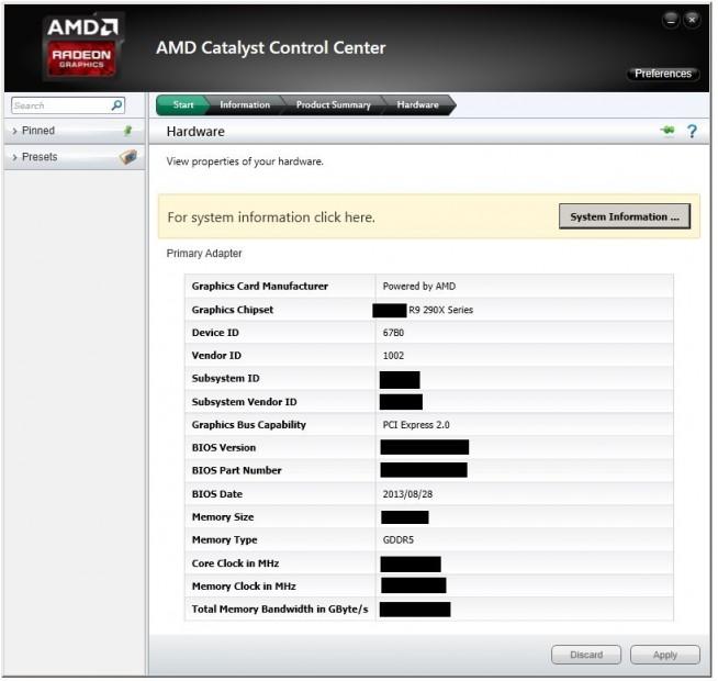 AMD Radeon R9 290X CCC