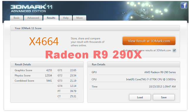 AMD Radeon R9 290X 3Dmark11