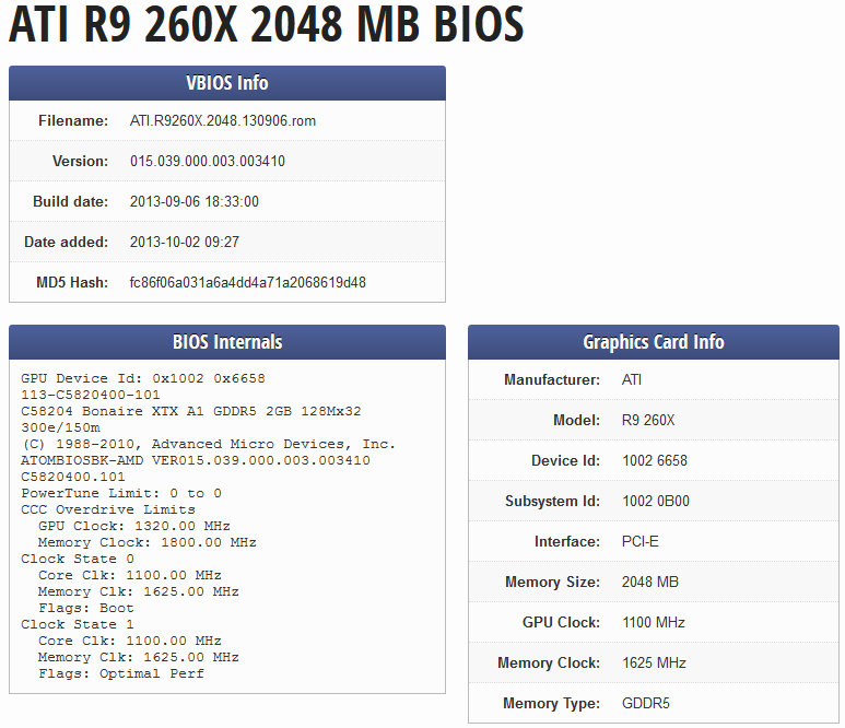 AMD Radeon R9 260X and R7 240 specifications confirmed