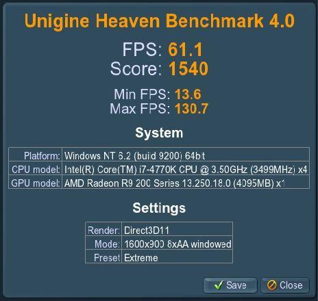 R9 290X Heaven