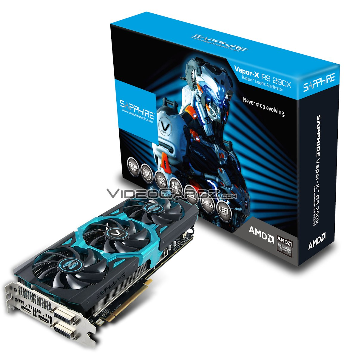 sapphire shows off radeon r9 290x toxic with 8gb memory