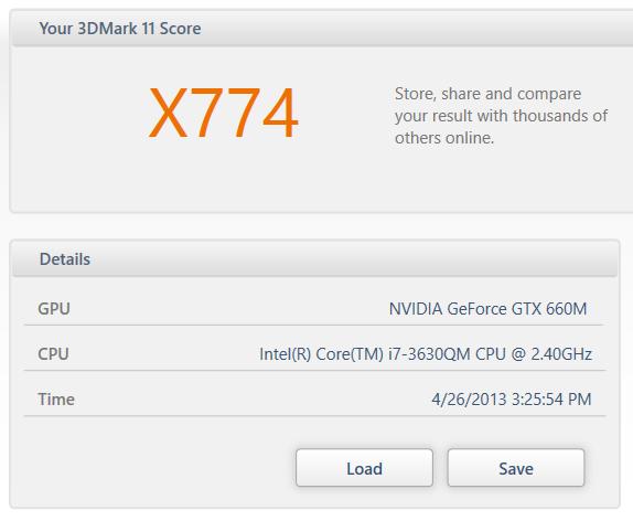 GTX 660 3DMARK extreme