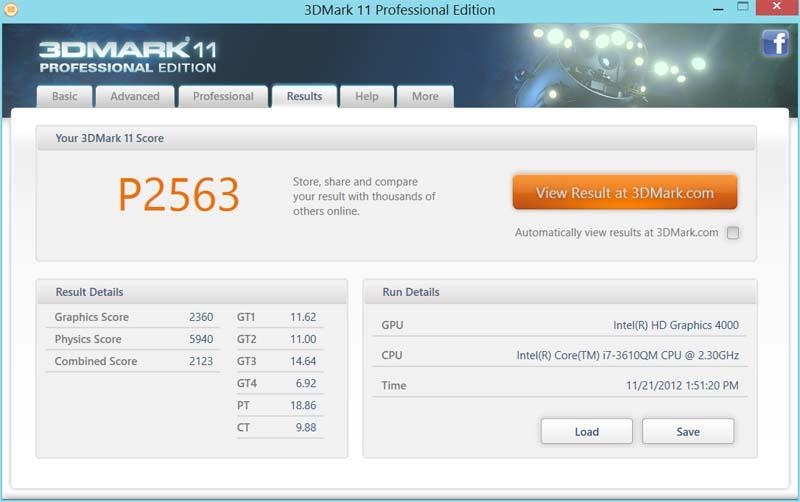 GTX 660M 3DMARK
