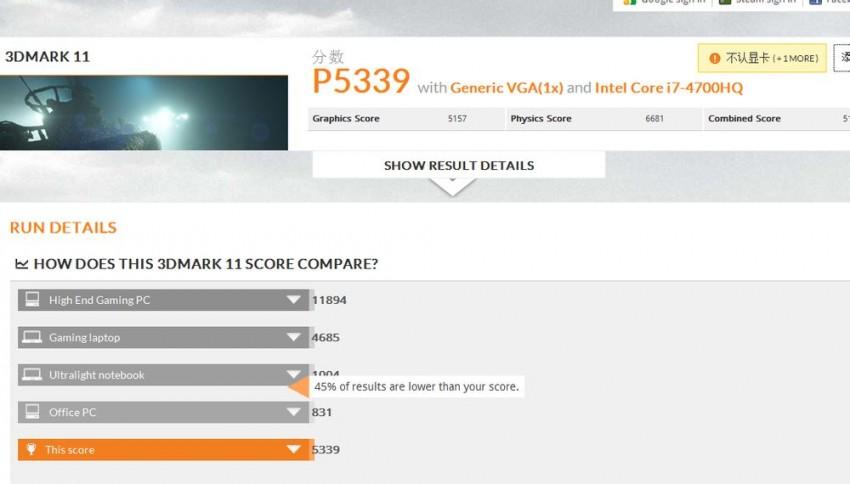 GeForce GTX 860M 3DMARK