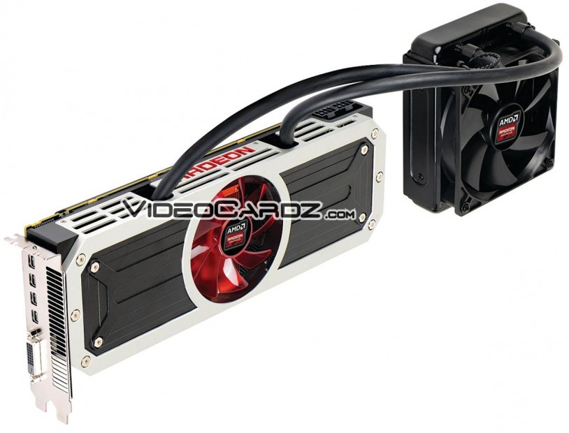 AMD Radeon R9 295X2 with radiator