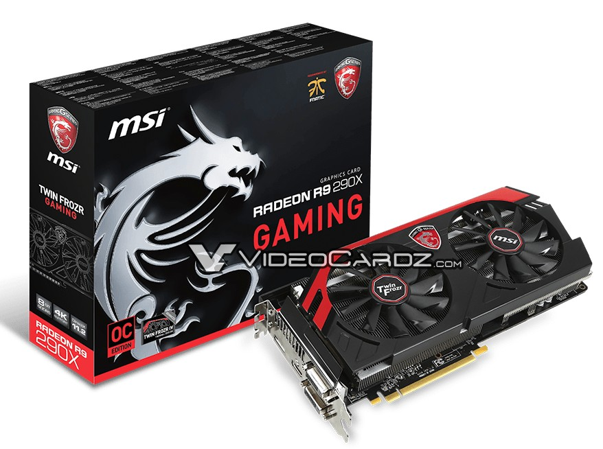 MSI Radeon R9 290X 8GB GAMING