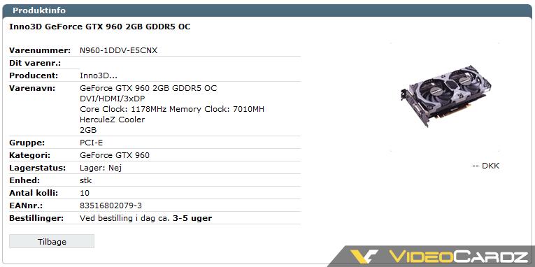 Inno3d GTX 960 OC