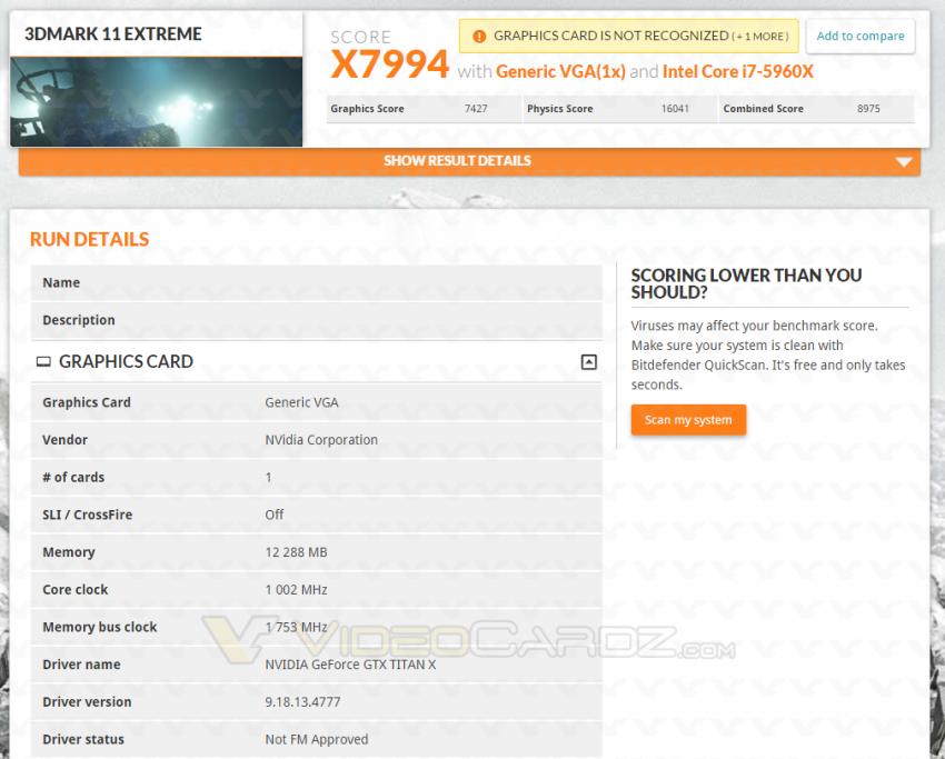 GeForce GTX TITAN FireStrike Extreme