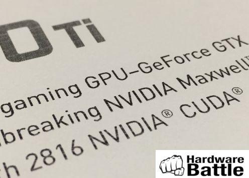 GTX 980 Ti 2816 CUDAs
