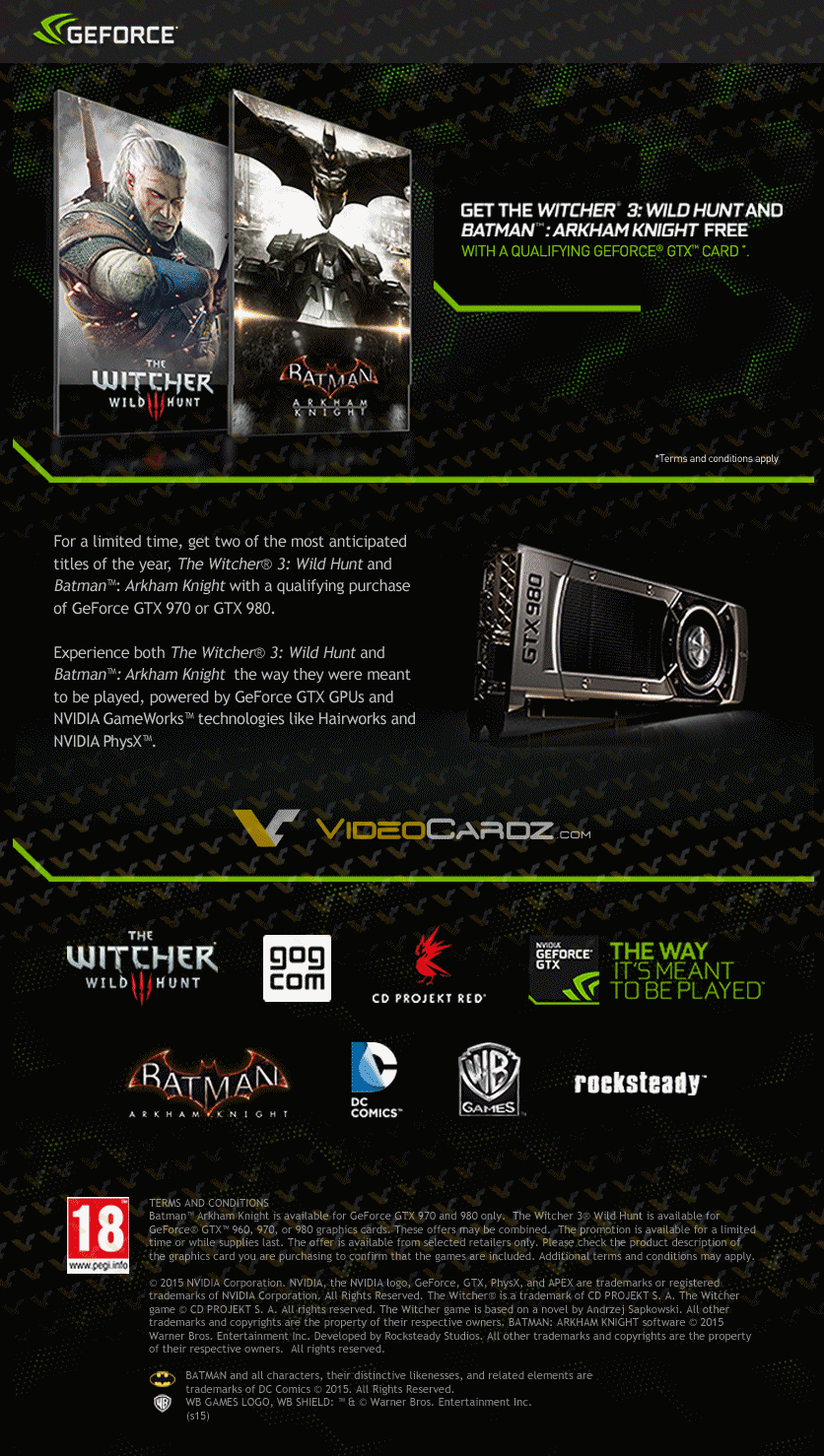 Witcher3 and Batman AK promotion videocardz_com