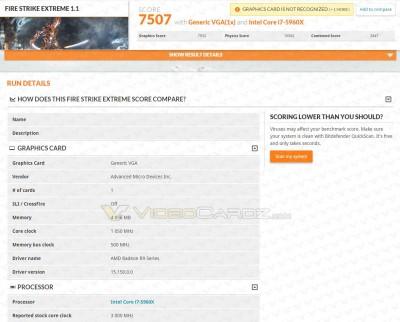 AMD Radeon Fury X 3DMark Score