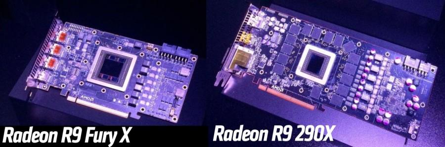 AMD Radeon R9 Fury X PCB vs R9 290X 390X PCB