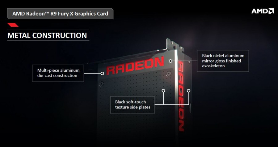 AMD Radeon R9 Fury X metal construction