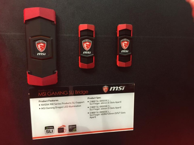 MSI GAMING SLI BRIDGES