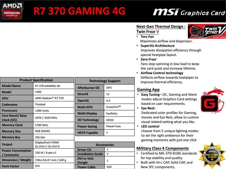 MSI R7 370 GAMING 4G