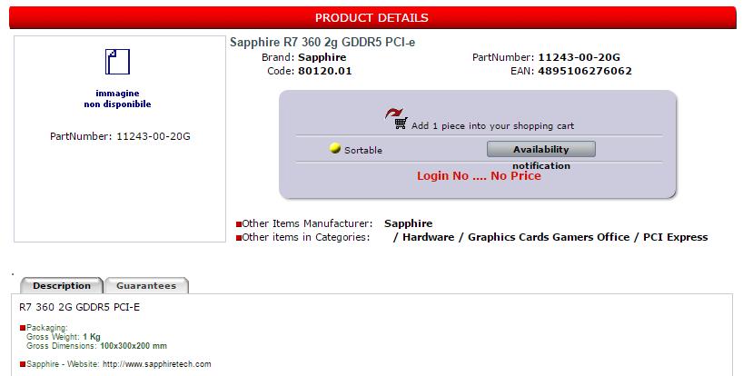 R7 360 2g GDDR5 PCI-E - PN_ 11243-00-20G