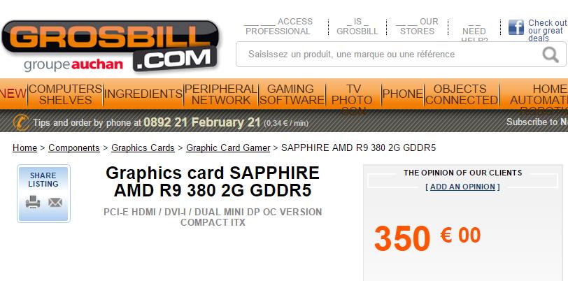 SAPPHIRE AMD R9 380 2G GDDR5