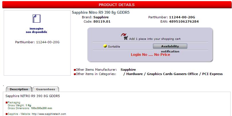 Sapphire Nitro R9 390 8g GDDR5 - PN_ 11244-00-20G