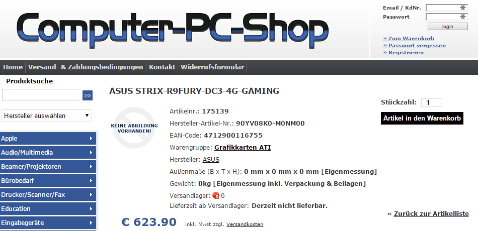 ASUS R9 Fury DC3 GAMING Computer-PC-Shop