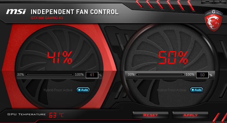 MSI Fan Control High Usage