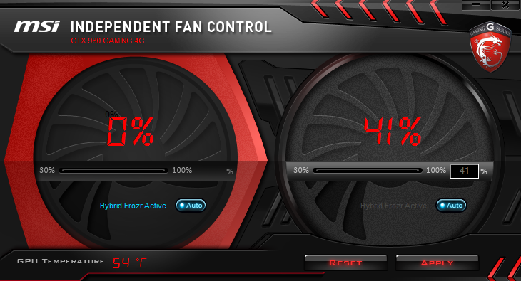 MSI Fan Control Low Usage
