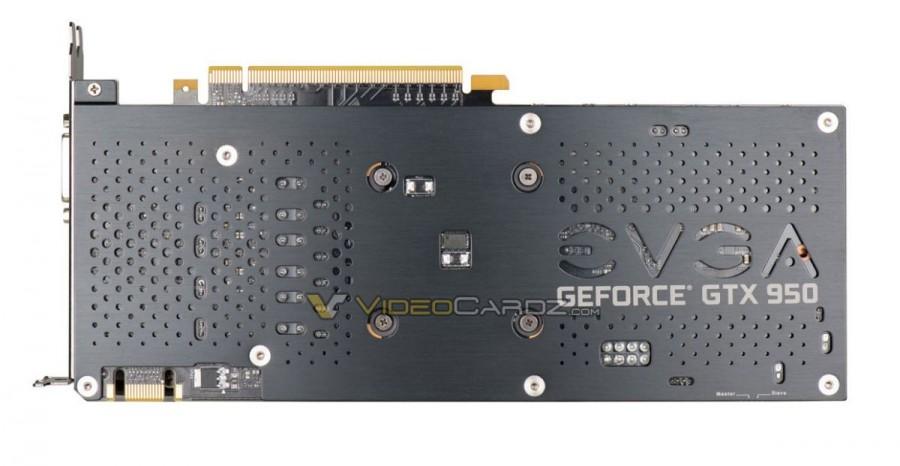 EVGA GTX 950 backplate