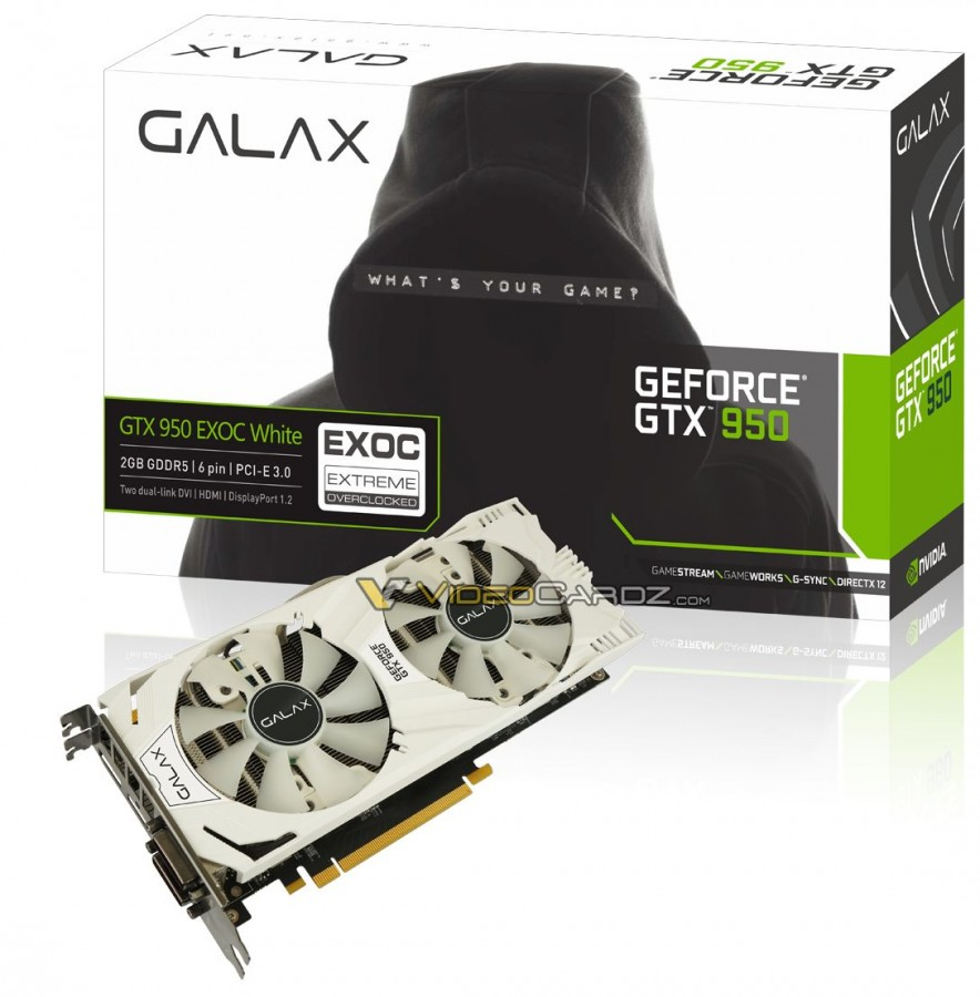 GALAX GTX 950 EXOC WHITE
