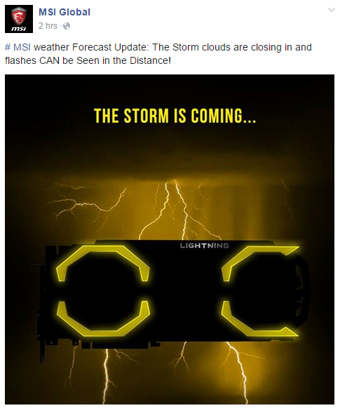 MSI GTX 980 Lightning Facebook